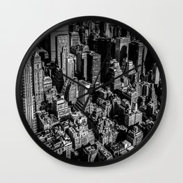 Manhattan Rooftop View Wall Clock