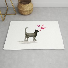 I Love Cats No. 3a by Kathy Morton Stanion Rug