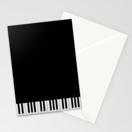 Piano Keyboard Stationery Cards