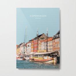 Copenhagen, Denmark Travel Artwork Metal Print