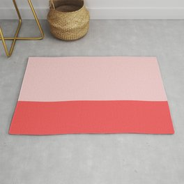 Pink & Tomato Red color story Rug