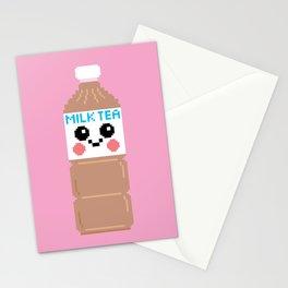 Happy Pixel Milk Tea Stationery Cards