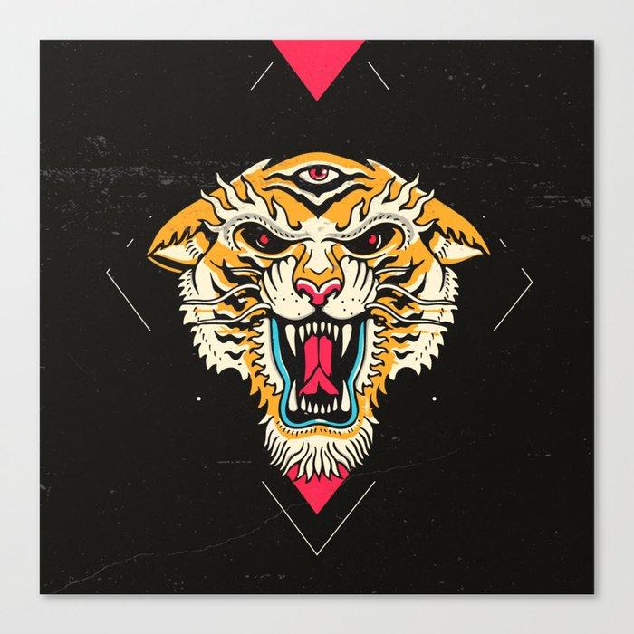Tiger 3 Eyes Leinwanddruck
