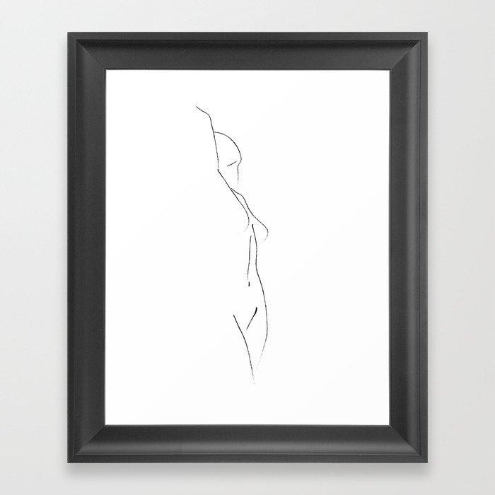 Minimal Line Drawing 3 Gerahmter Kunstdruck
