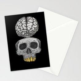 Losing my mind (black background) Stationery Cards