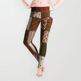 Warm Vintage Patchwork Leggings