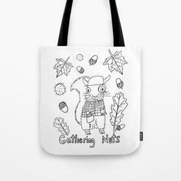 Gathering Nuts  Tote Bag