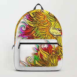 Golden Flower Lion Backpack