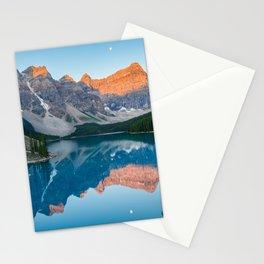 Canadian Rockies Reflection Sunrise Moraine Lake Banff National Park Canada Mountains Landscape Stationery Cards
