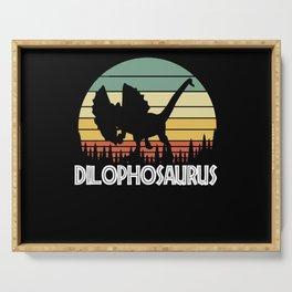 dilophosaurus. Gift for dinosaur lover Serving Tray