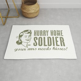 Hurry Home Soldier Rug