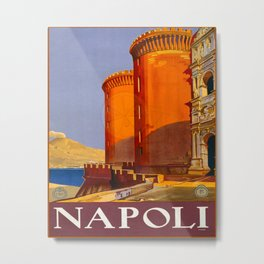 Napoli Travel Poster Metal Print