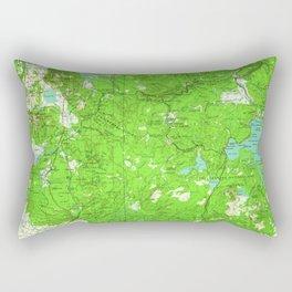 ID Ashton 239599 1960 Topographic Map Rectangular Pillow