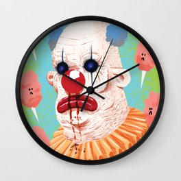 Bloody Nose Clown Wall Clock