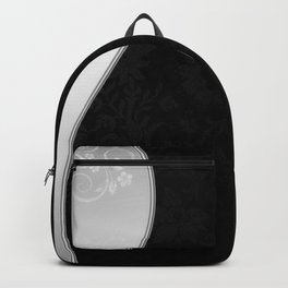 Black and silver Backpack
