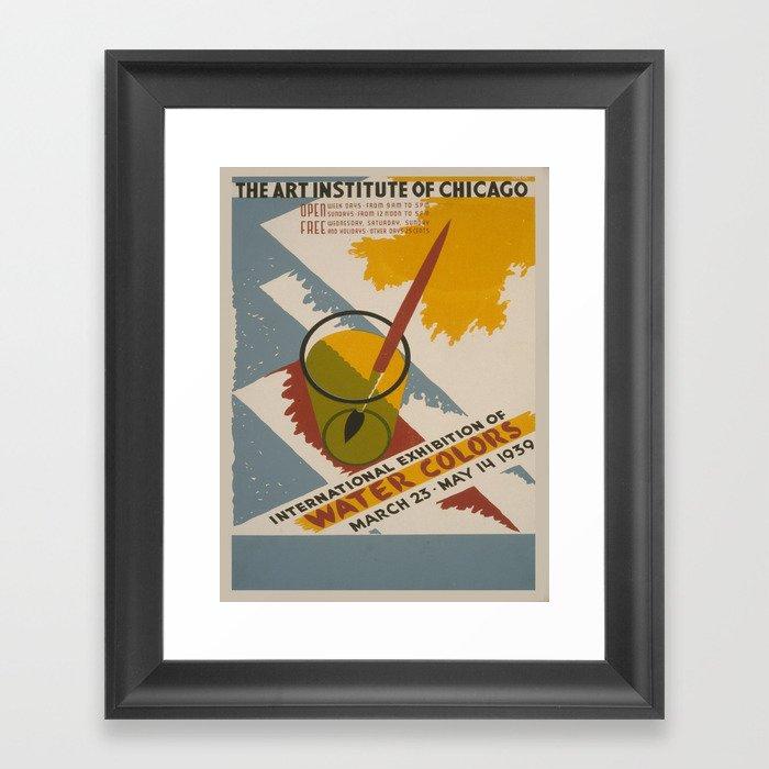Vintage poster - International Exhibition of Water Colors Gerahmter Kunstdruck