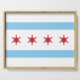 Chicago Flag, Official Flag of the City of Chicago Serving Tray