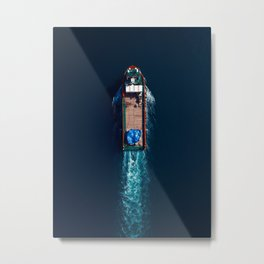 Top View Boat | Aerial Photography  Metal Print