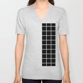 RETROWAVE (BLACK-WHITE) Unisex V-Neck