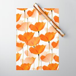 Orange Poppies On A White Background #decor #society6 #buyart Wrapping Paper