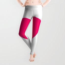 Neon Pink Heart Leggings