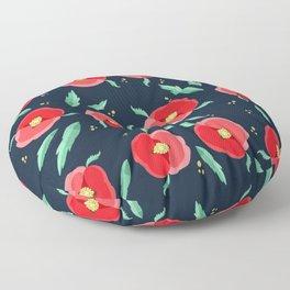 Red flowers  Floor Pillow