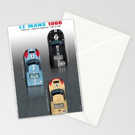 GT40 Le Mans 1966, Finish side by side Stationery Cards