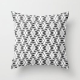 Magic Tartan - Why Am I Seeing Hexagons ? Throw Pillow