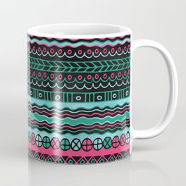 Colorful  Aztec Inca Mayan Pattern Coffee Mug