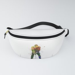 man golfer putting silhouette Fanny Pack