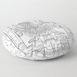 Mayan King Rising Floor Pillow