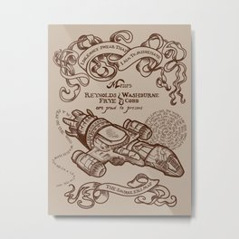 The Smuggler's Map Metal Print