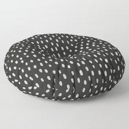 Hand painted black gray watercolor brushstrokes pattern Floor Pillow