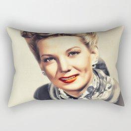 Louise Allbritton, Vintage Actress Rectangular Pillow