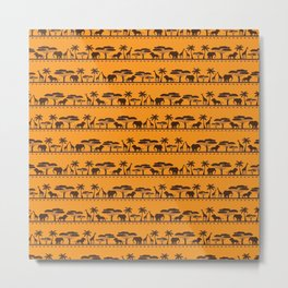 Traditional African Pattern Metal Print