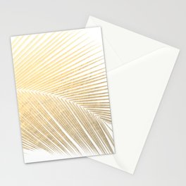 Palm leaf - gold Stationery Cards