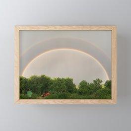 Double Rainbow MN Farm Framed Mini Art Print
