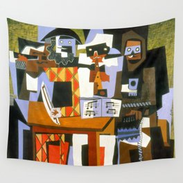 Pablo Picasso Three Musicians Wall Tapestry