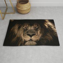 Lion Face Closeup Rug