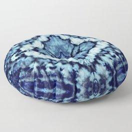Tie Dye Linen Ikat Floor Pillow
