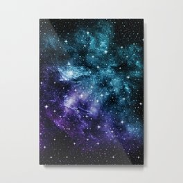 Teal Purple Galaxy Nebula Dream #1 #decor #art #society6 Metal Print