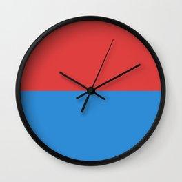 flag of Ticino or Tessin Wall Clock