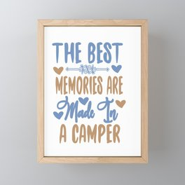 The best memories - Adventure Design Framed Mini Art Print