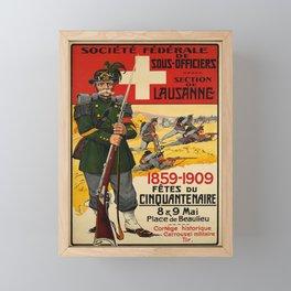 Plakat fetes du cinquantenaire societe Framed Mini Art Print