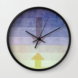 Separation in the Evening by Paul Klee 1922 // Sunset Abstract Minimalism Sun and Darkness Wall Clock
