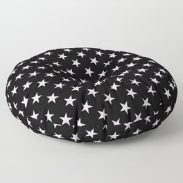 Pink Lace Pink on Black Stars Floor Pillow