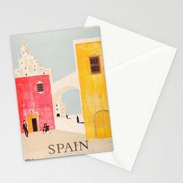 Spain Vintage Travel Poster Mid Century Minimalist Art Stationery Cards
