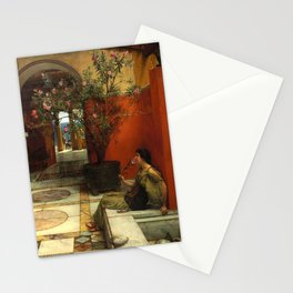 "Sir Lawrence Alma-Tadema ""An Oleander"" Stationery Cards"