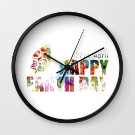 earth day Wall Clock