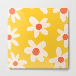 Happy Golden Daisies | Yellow Daisies | Summer Flowers Metal Print